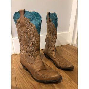Women's vegan leather cowboy boots 7.5